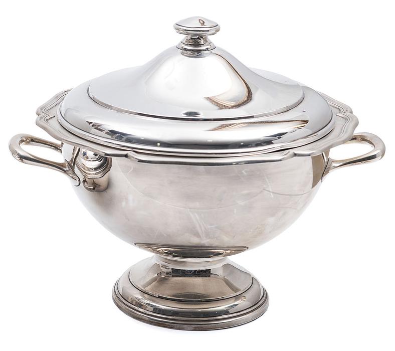 Sopera en plata espa ola y punzonada s xx ley 925 - Precio cuberteria plata ...