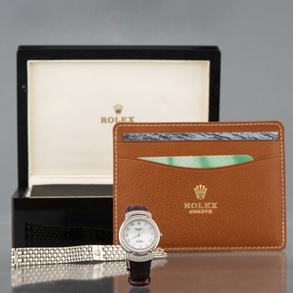 Reloj Rolex de señora modelo Cellini en oro blanco de 18 Kt.