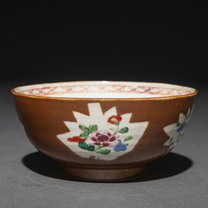 Bowl en porcelana china. Trabajo Chino, Siglo XIX