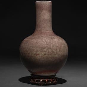 Jarrón en porcelana china vidriado. Trabajo Chino, Siglo XX