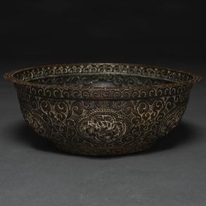 Brasero Tibetano en bronce. Siglo XIX