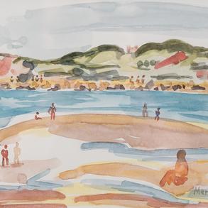 """""""Vista de las Gemelas"""" (Playa de Hendaya)"""