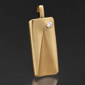 Octavio Sardá, Colgante en oro amarillo de 18 Kt con diamantes talla brillante 0,50 Qt. (Aprox)