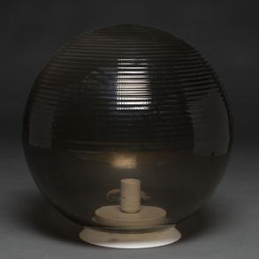 Lámpara de sobremesa en cristal de Murano. Trabajo Italiano, Años 80.