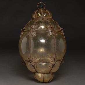 Farol en cristal Murano, Trabajo Italiano, Siglo, XIX-XX