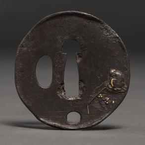 Tsuba de Katana Japonesa  en bronce época Meiji (1868-1912)