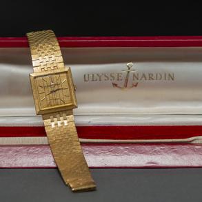 ULYSSE NARDIN - Reloj de pulsera Vintage en oro amarillo de 18 Kt.