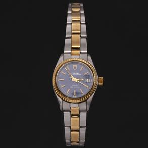 TUDOR PRINCESS OYSTERDATE - Reloj de señora en acero y oro de 18 Kt.