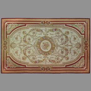 Alfombra francesa realizada en lana del siglo XX