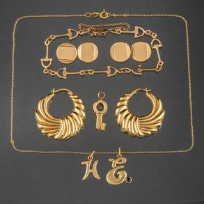 Miscelánea de joyas en oro amarillo de 18kt