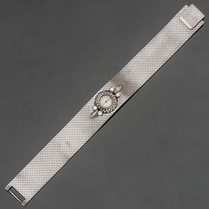 Omega Reloj Joya de dama en oro blanco de 18kt con brillantes