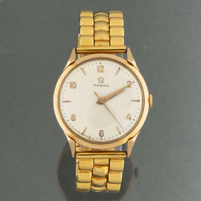 OMEGA Reloj de caballero con caja de oro amarillo de 18kt